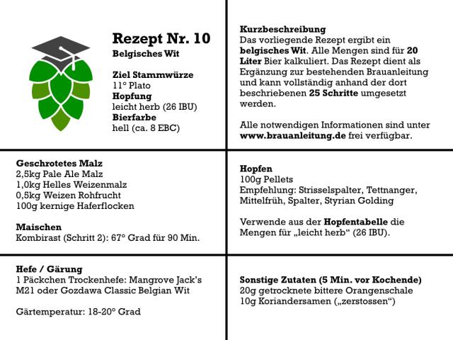 Belgisches Wit selber brauen